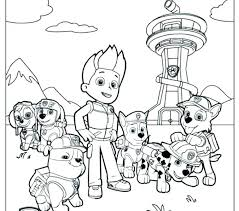 Coloring Pages Paw Patrol Coloring Book Pages Games These