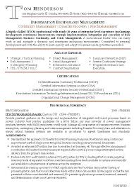 Continuity Risk Management Resume Resume For Management Position