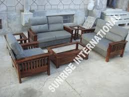 wooden sofa sets l shade sofa set