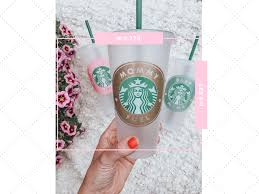 Paper Cup Size Chart Decal Size Guide For Starbucks Cold And Hot Cups Kayla Makes