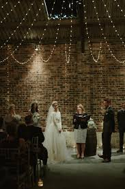 barn wedding lighting. Rustic Barn Wedding Ceremony   Fairy Lights Lighting