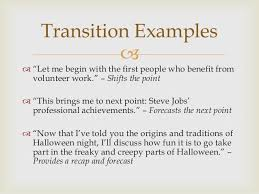 writing your introduction transitions and conclusion transition