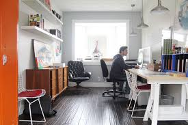 Apartment therapy office Ikea Aqaarati Home Decorating Ideas Real Life At Home Matt Converted Garage Design Studio