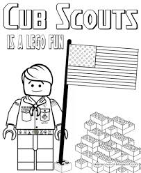 Small Picture Lego Cub Scout Coloring Page Great for the Blue Gold Banquet