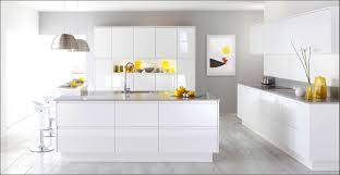 Classic Modern Kitchen Decorations Cozy Modern Kitchen With L Shaped Cabinets In White
