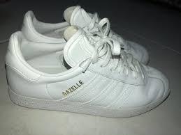 mens adidas gazelle white leather trainers bb5498 men s fashion footwear on carou