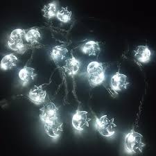 Decorative Outdoor String Lights Simple 32M Moon Star Garland LED Christmas Lights Decoration Outdoor String