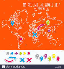 World Map Poster With Pins Remarkable Ideas World Traveller Push Pin