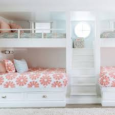 bunk bed with stairs for girls. Bunk Beds For Girls With Stairs Wooden Floor Teenage Room Ideas Smooth Blue Wall Painting Minimalist Bed