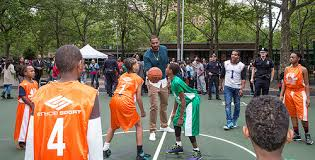 carmelo anthony house basketball court. Interesting Carmelo Carmelo Anthony Foundation Basketball Court Dedication At NYCHAu0027s James  Monroe Houses In The Bronx For House O