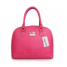 Coach City In Logo Medium Fuchsia Satchels BIA
