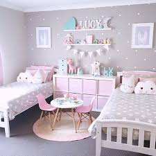 Polka dots for shared girls room