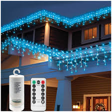 Blue And Warm White Icicle Lights Window Curtain Icicle Lights With Remote 19 7ft X 2 3ft 300 Led Battery Operated Festival String Lights For Lawn Garden Pavilion Fence Home Church