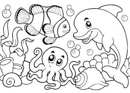 Onderwaterdieren Kleurplaten Zee Kleurplaten Juf Jannie Leren Met