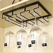 ma iron wall mount wine glass hanging holder goblet stemware storage organizer rack