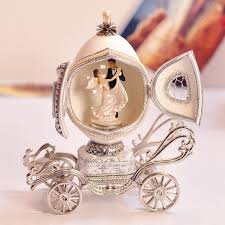 captivating wedding gift for romantic royal family eggs carving cutout carriage box