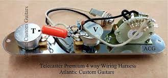 telecaster tele 4 way wiring harness cts sprague treble bleed mod telecaster tele 4 way wiring harness cts sprague treble bleed mod 3