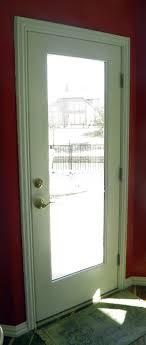 full glass exterior door. interior view of a full glass fiberglass flush glazed frameless exterior door. door o
