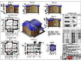 Чертежи домов коттеджей планы разрезы фасады проекты Коттедж загородный
