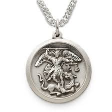 details about 925 sterling silver saint st michael pendant medal necklace on 20 inch chain
