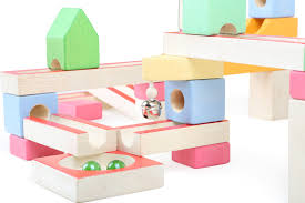 home pastel wooden marble run