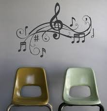 Music Notes Wall Art Words Vinyl Lettering Stickers Etsy