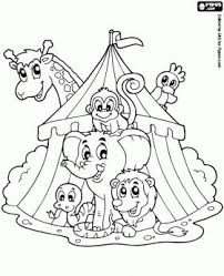 Small Picture 264 best Circus Carnival Carousel Coloring images on Pinterest