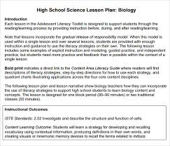 High School Science Lesson Plan Template Microsoft Word Lesson Plans