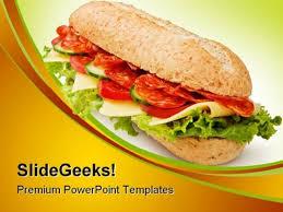 Powerpoint Templates Food Salami Submarine Sandwich Food Powerpoint Templates And Powerpoint