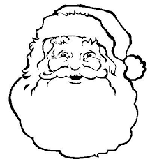 santa claus face coloring page. Santa Claus Face Printable Coloring Page Throughout