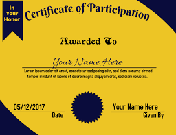 Certificate Of Honor Template Certificate Of Appreciation B G Template Postermywall
