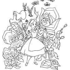 Small Picture Alice is Happy Alice in Wonderland Coloring Page Alice is Happy