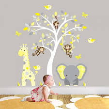 jungle nursery wall art stickers giftwrappedandgorgeous uk in elegant along with lovely nursery wall art intended for household on wall art stickers nursery uk with jungle nursery wall art stickers giftwrappedandgorgeous uk in