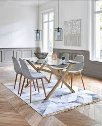 Table Salle A Manger Style Scandinave Table De Cuisine Scandinave ...