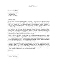Vet Tech Cover Letters Resume Cover Letter