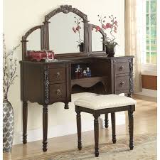 Three Way Vanity Mirror Vanity Dresser With Mirror Full Image For Antique Vanity Dresser