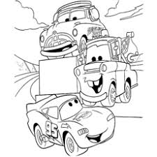 lightning mcqueen coloring pages. Lightning McQueen Talkingwith Friends Coloring Page To Print In Mcqueen Pages