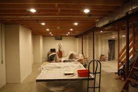 lighting a basement. Plain Decoration Basement Recessed Lighting Shining Adding To Home Design Mannahatta Us A B
