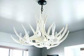 full size of real whitetail antler chandelier deer white faux uk home improvement cool image 0