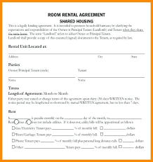 Residential Room Rental Agreement Form Sample In Home House – Newbloc