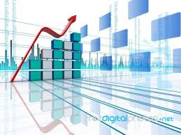 3d Stock Chart 3d Bar Chart With Arrow Stock Image Royalty Free Image Id