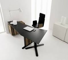 interior contemporary black modern office. Contemporary Black Metal Workbench Offiice Chair Using High Backrest Shaped Base Which Has Solid Wood Filing Interior Modern Office