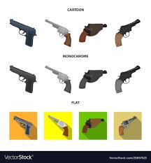 Design Pistol Design Revolver And Pistol Logo Set Of
