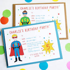 superheroes party invites superhero personalised birthday party invitations by superfumi