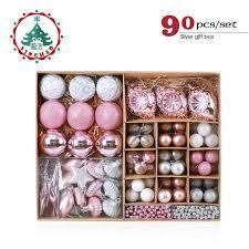 Großhandel Großhandel Rosa Weihnachtsbaum Ornamente Weihnachtskugeln Dekoration Kugeln Kunststoff Hängenden Ball Bastelbedarf Weihnachtsgeschenke 2019