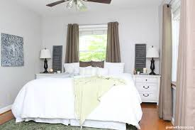 a neutral rustic bedroom makeover
