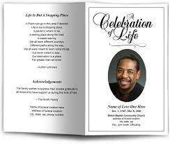 Funeral Pamphlet Templates Fascinating Funeral Pamphlet Template Memorial Pamphlet Templates Onwe Funeral