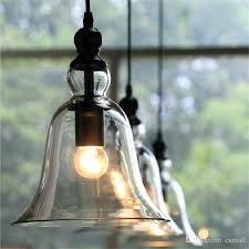 glass pendant chandelier light new antique vintage style glass shade ceiling light bell pendant light retro