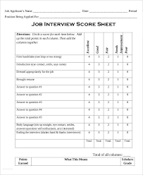 Sample Interview Score Sheet Fascinating 48 Sheet Templates In Word Free Premium Templates