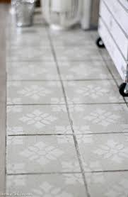 get the cement tile look for less with paint and a stencil get the full
